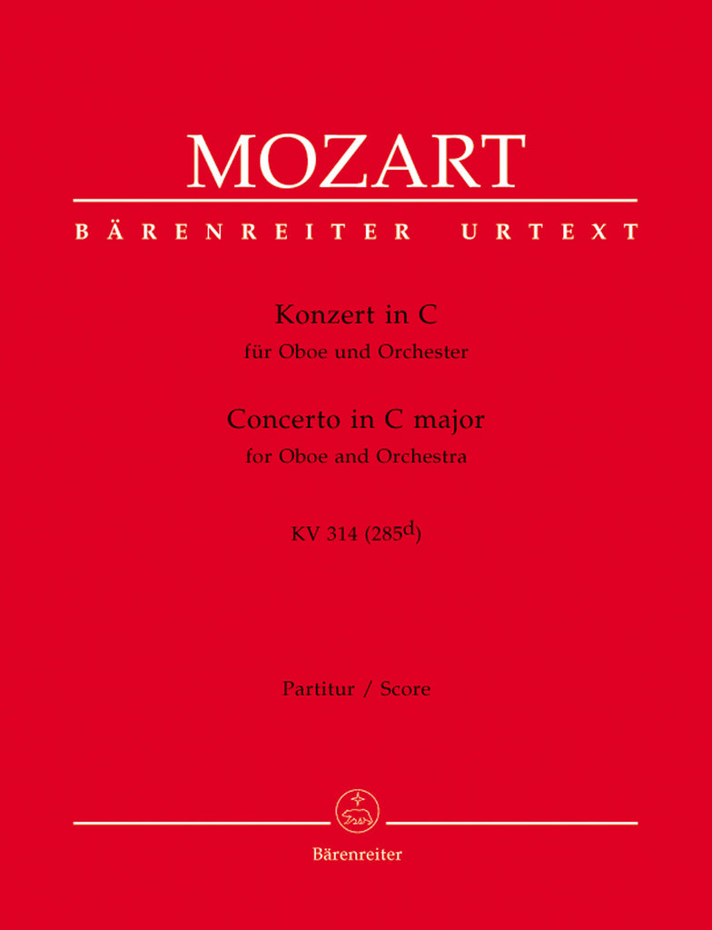 Mozart, Wolfgang Amadeus % Concerto in C Major K314 (Urtext) (Score & Set)-OB/ORCH