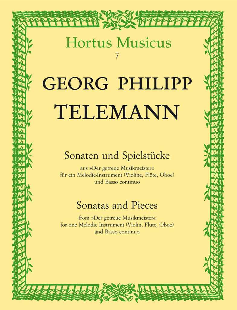 "Telemann, Georg Philipp % Sonatas & Pieces from ""Der getreue Musikmeister""-OB/PN (Basso Continuo)"