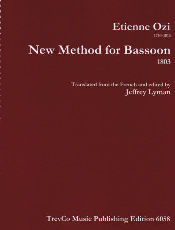 Ozi, Etienne % New Method for Bassoon 1803 (Lyman)-BSN