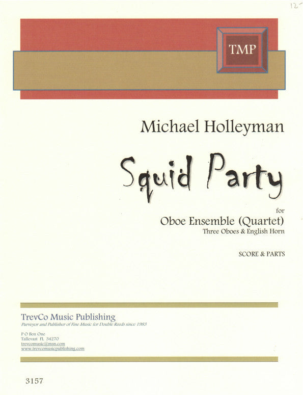 Holleyman, Michael % Squid Party (Score & Parts)-3OB/EH