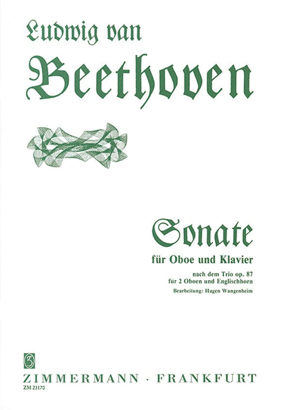 Beethoven, Ludwig van % Sonata after Op 87 Trio-OB/PN