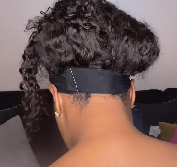 HUMAN HAIR CURLY HEADBAND WIG