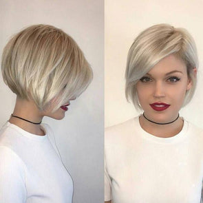 Sun Kissed Classic Blonde Bob