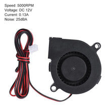 Load image into Gallery viewer, 1pc 50mm 12V/24V DC Cooling Blower Fan 5000RPM - DC 12V