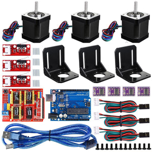 35 in 1 DIY Professional 3D printer Shield R3 Board Switch Stepper Motor Driver CNC Kit for Arduino - Default Title