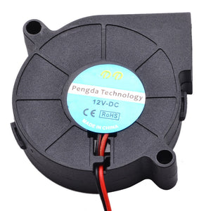 1pc 50mm 12V/24V DC Cooling Blower Fan 5000RPM