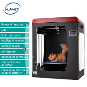 Huafast HS-334 3d printer Fully enclosed Acrylic metal frame with Power off Resume Print