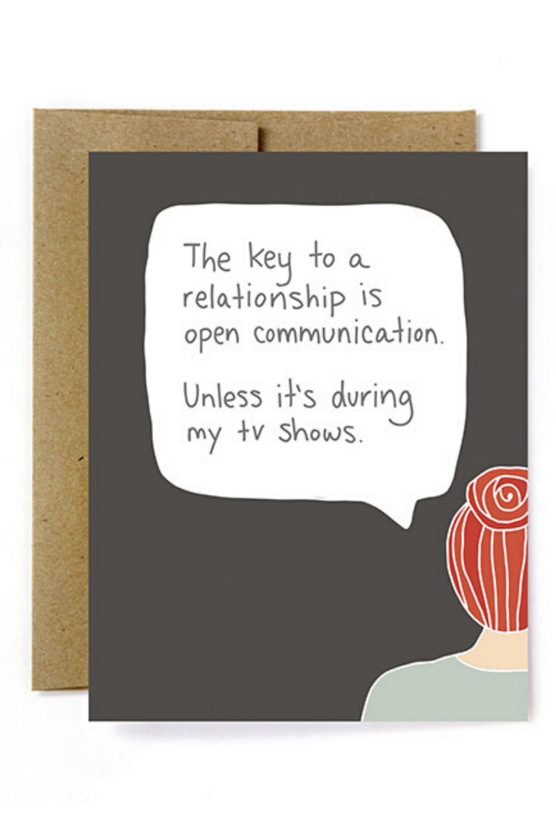 Relationship Communication Greeting Card
