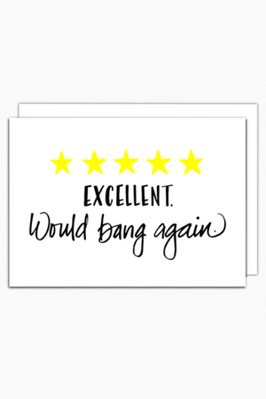 Would Bang Again Greeting Card