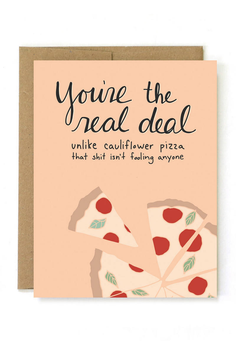 Real Deal Greeting Card