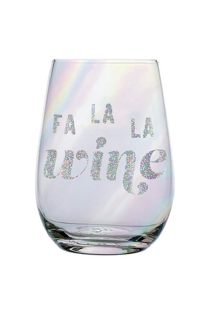 Fa La La Wine Glass