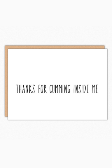 Thanks For Cumming Greeting Card