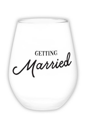 Getting Married Jumbo Stemless Wine Glass