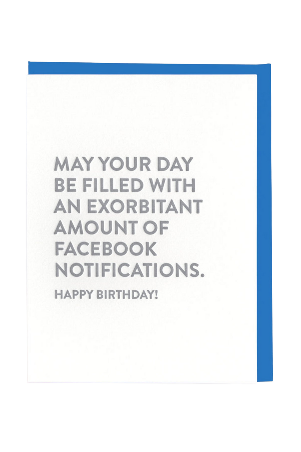 Facebook Notifications Birthday Greeting Card