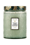 Voluspa Large Embossed Glass Jar - French Cade Lavender