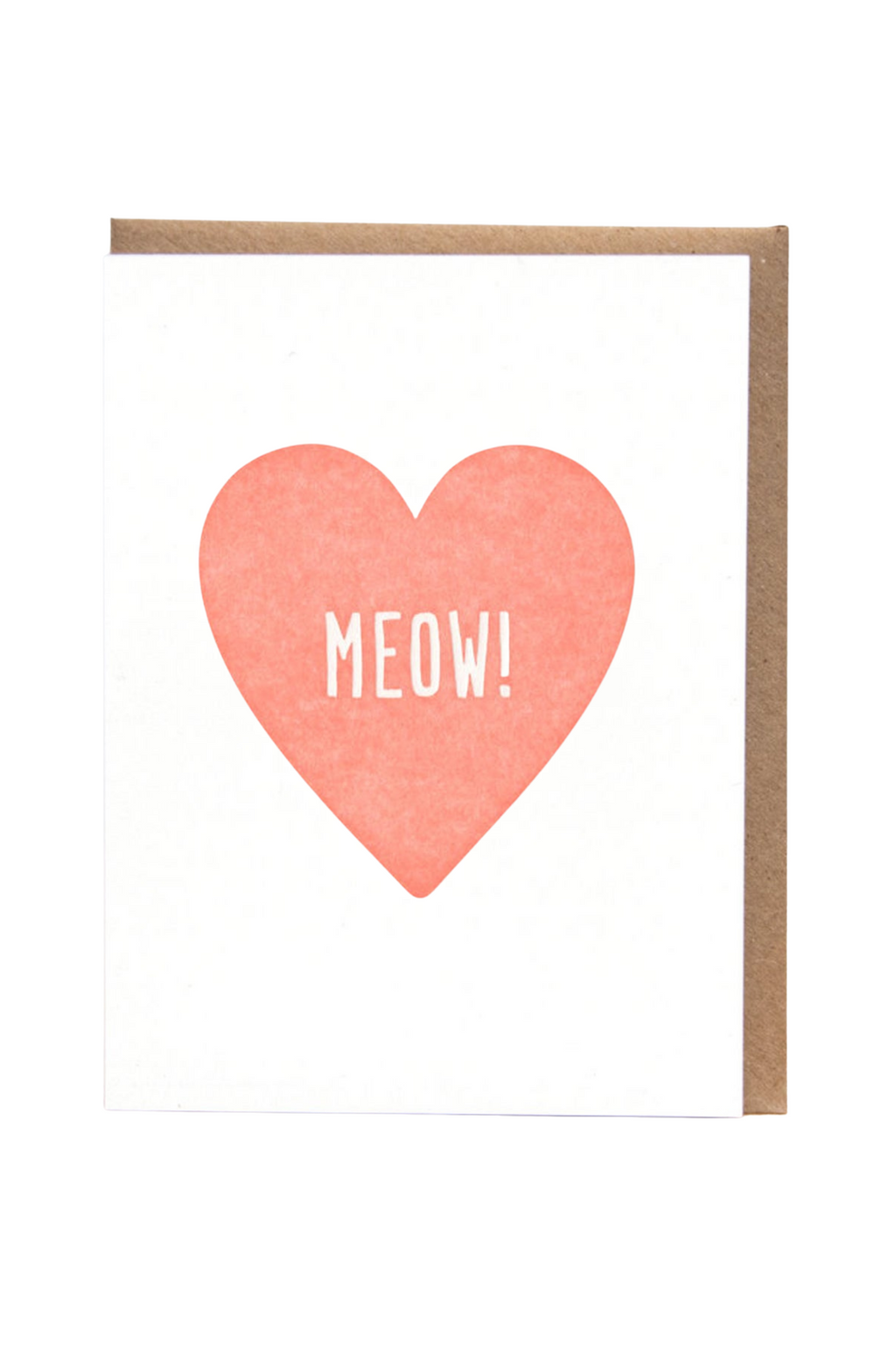 Meow Heart Greeting Card