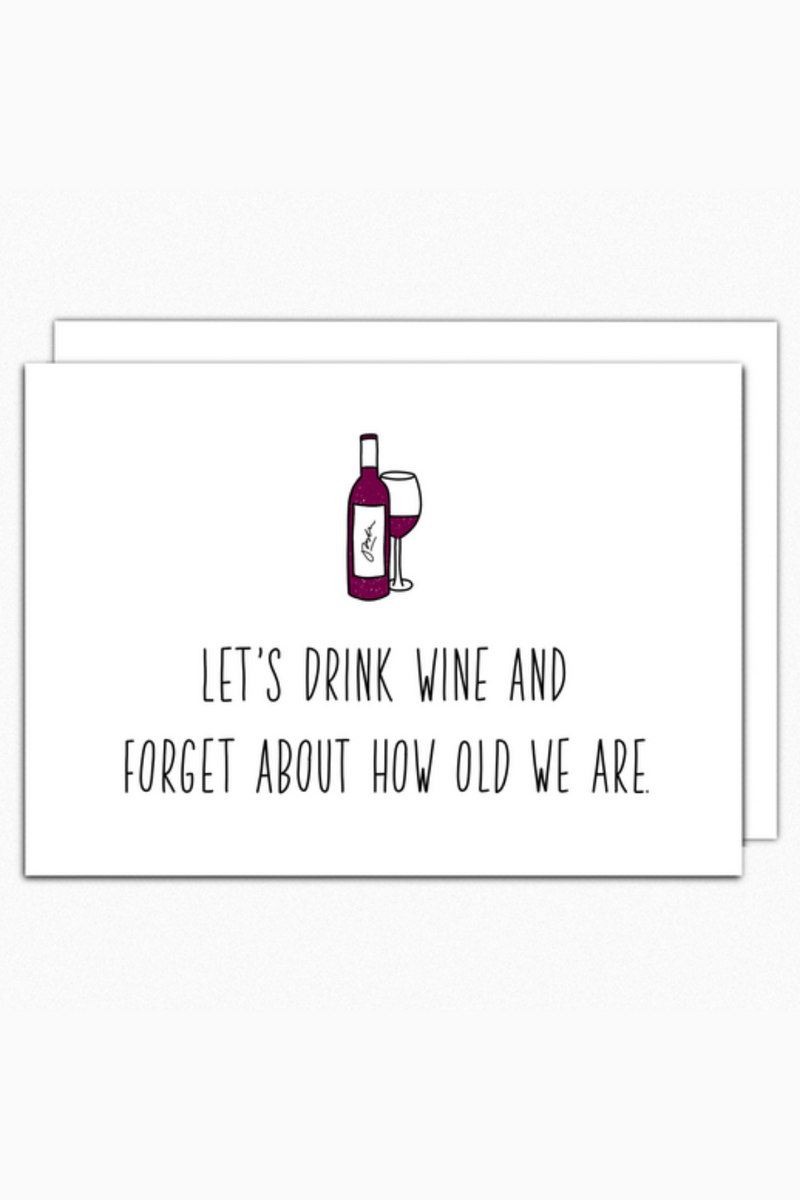 Let's Drink Wine Greeting Card