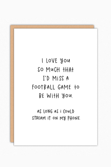 Football Game Greeting Card
