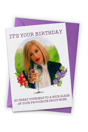 Moira Wine Birthday Card