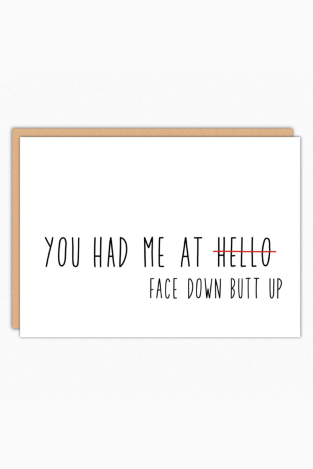 Face Down Butt Up Greeting Card