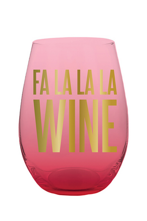Fa La Wine Stemless Wine Glass