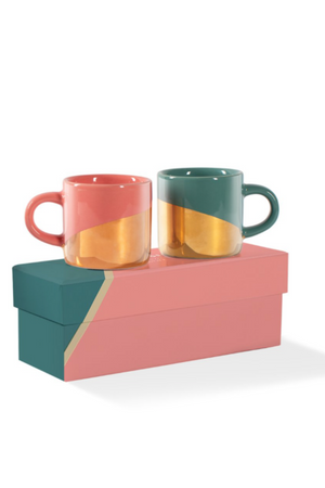 Gold Dip Mini Espresso Mug Set