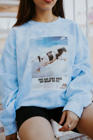 To The Moon Oversized Crewneck