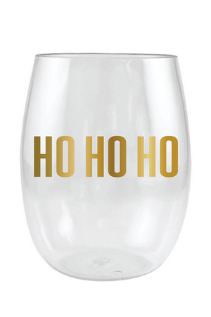 Ho Ho Ho Stemless Wine Glass