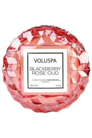Voluspa Macaron Candle - Blackberry Rose Oud