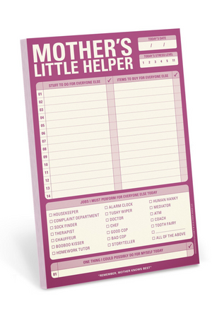 Knock Knock Mother's Little Helper Pad