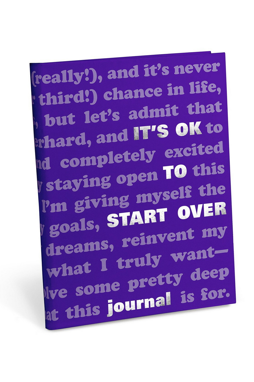 Knock Knock It's OK To Start Over Journal