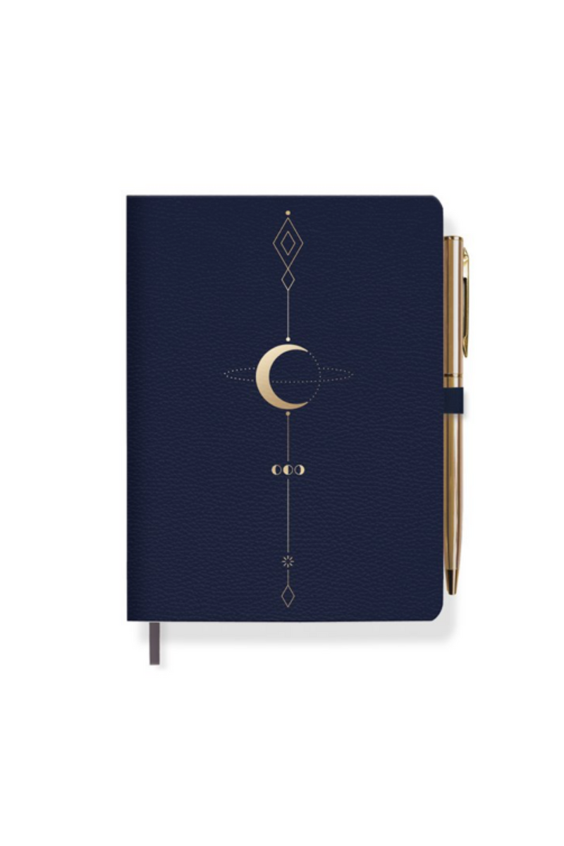 Moon Tattoo Journal With Pen