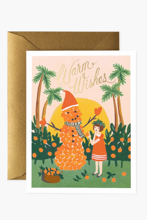 Warm Wishes Snowman Card