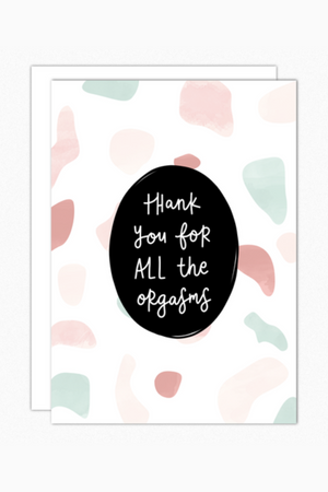 Orgasms Greeting Card
