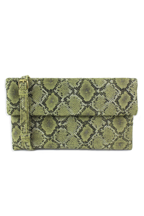Printed Foldover Clutch