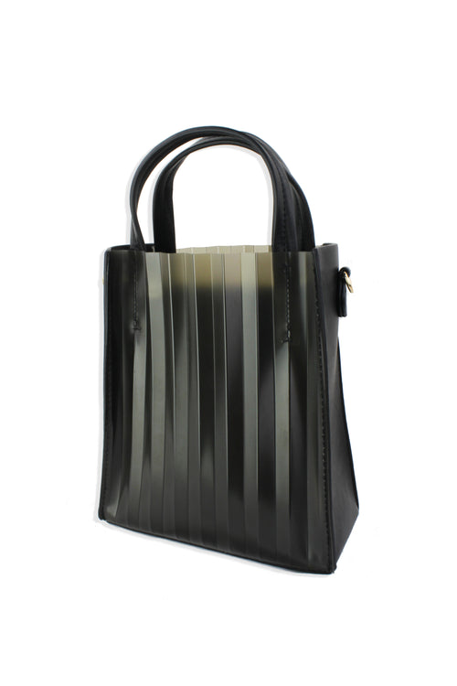 Mini Vinyl Pleated Tote