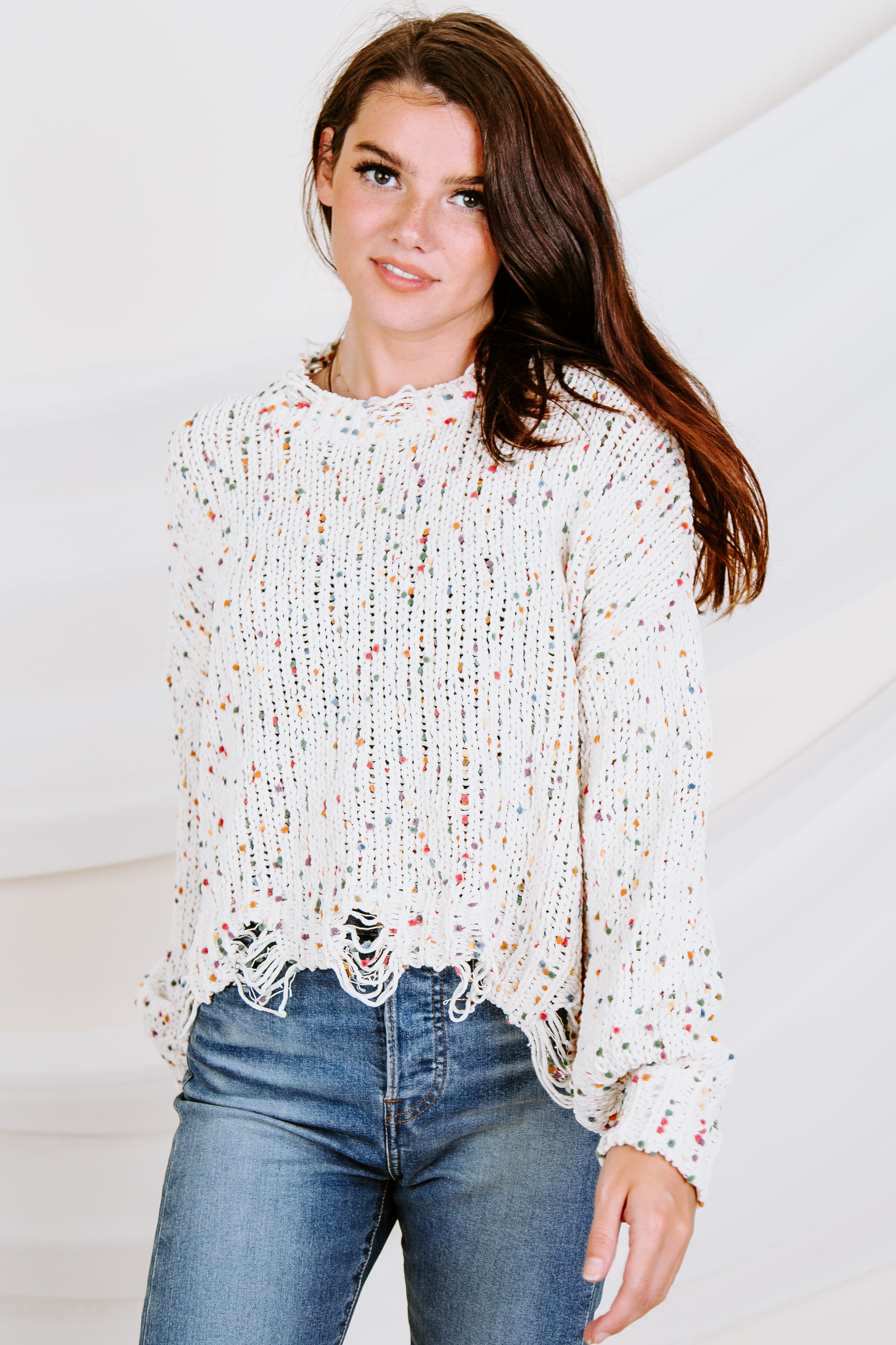 Funfetti Distressed Sweater