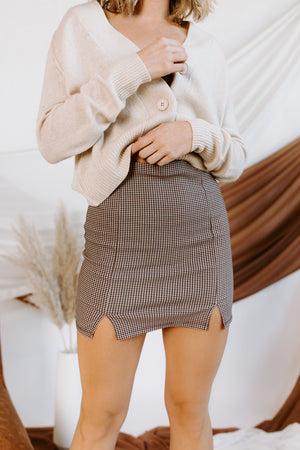 Lady May Plaid Mini Skirt