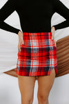 All Or Nothing Plaid Mini Skirt