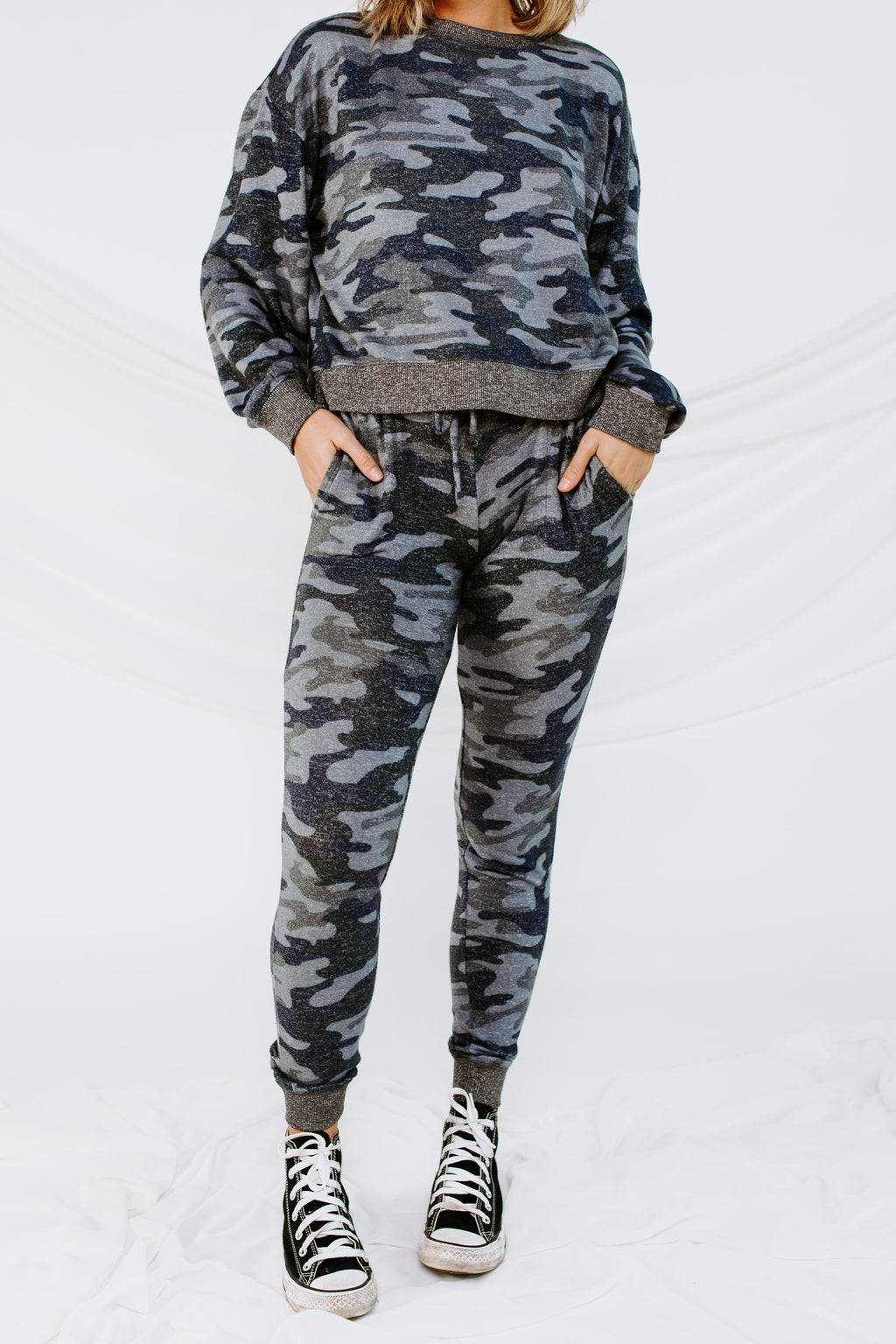 Z Supply Mina Marled Camo Jogger