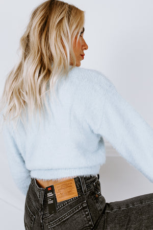 In My Dreams Fuzzy Cropped Sweater
