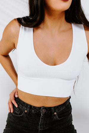 Slower Days Ribbed Crop Top