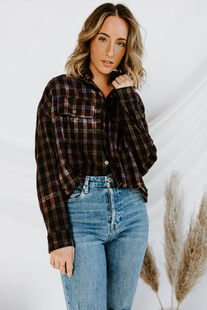 Plaid Stories Cropped Flannel