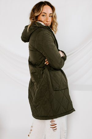 Seeing Double Reversible Sherpa Coat