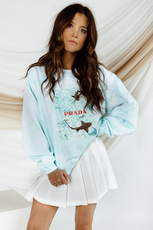 Deep Waters Oversized Crewneck