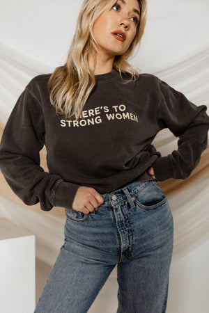 BRIGHTSIDE The Label Strong Women Crewneck