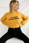 BRIGHTSIDE The Label Ray Of Sunshine Cropped Crewneck