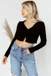 Get Button With It Crop Top