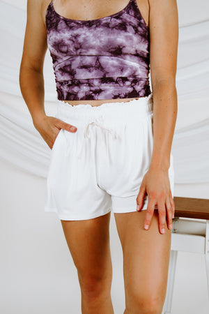 It's Your Turn Elastic Waist Shorts