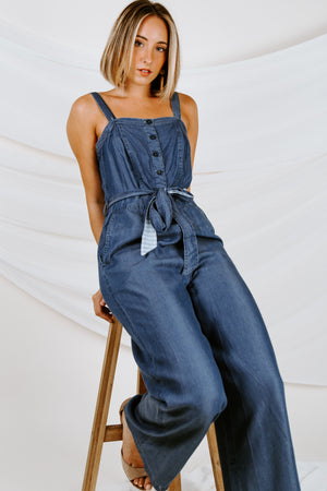 Second Nature Chambray Jumpsuit